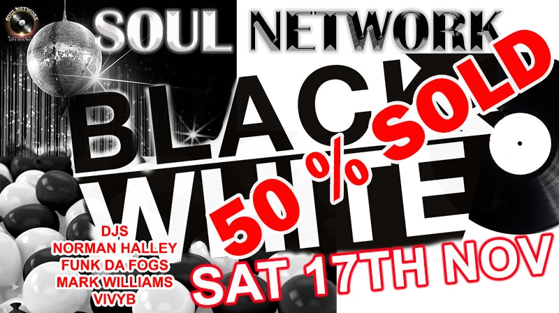 BLACK AND WHITE FLYER 50% SOLD SMALLER