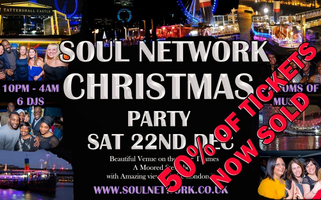 50% of tickest now sold Christmas Party Flyer Tattershall