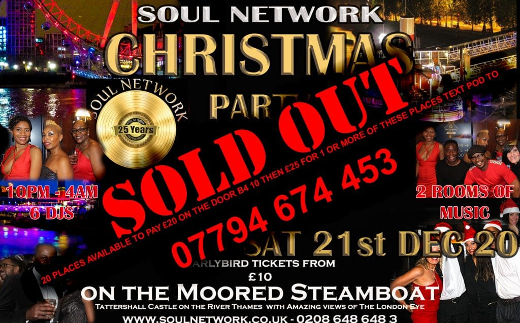 Christmas Party Flyer Tattershall SOLD OUT