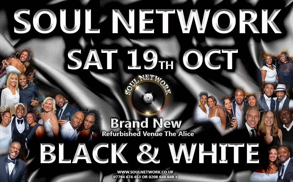 SAT 19TH OCT BLACK AND WHITE AT THE ALICE