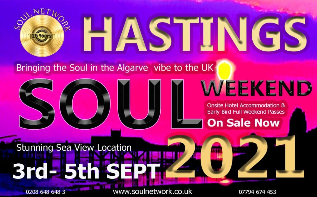 HASTINGS flyer 1 Soul Network Soul Weekender 2020