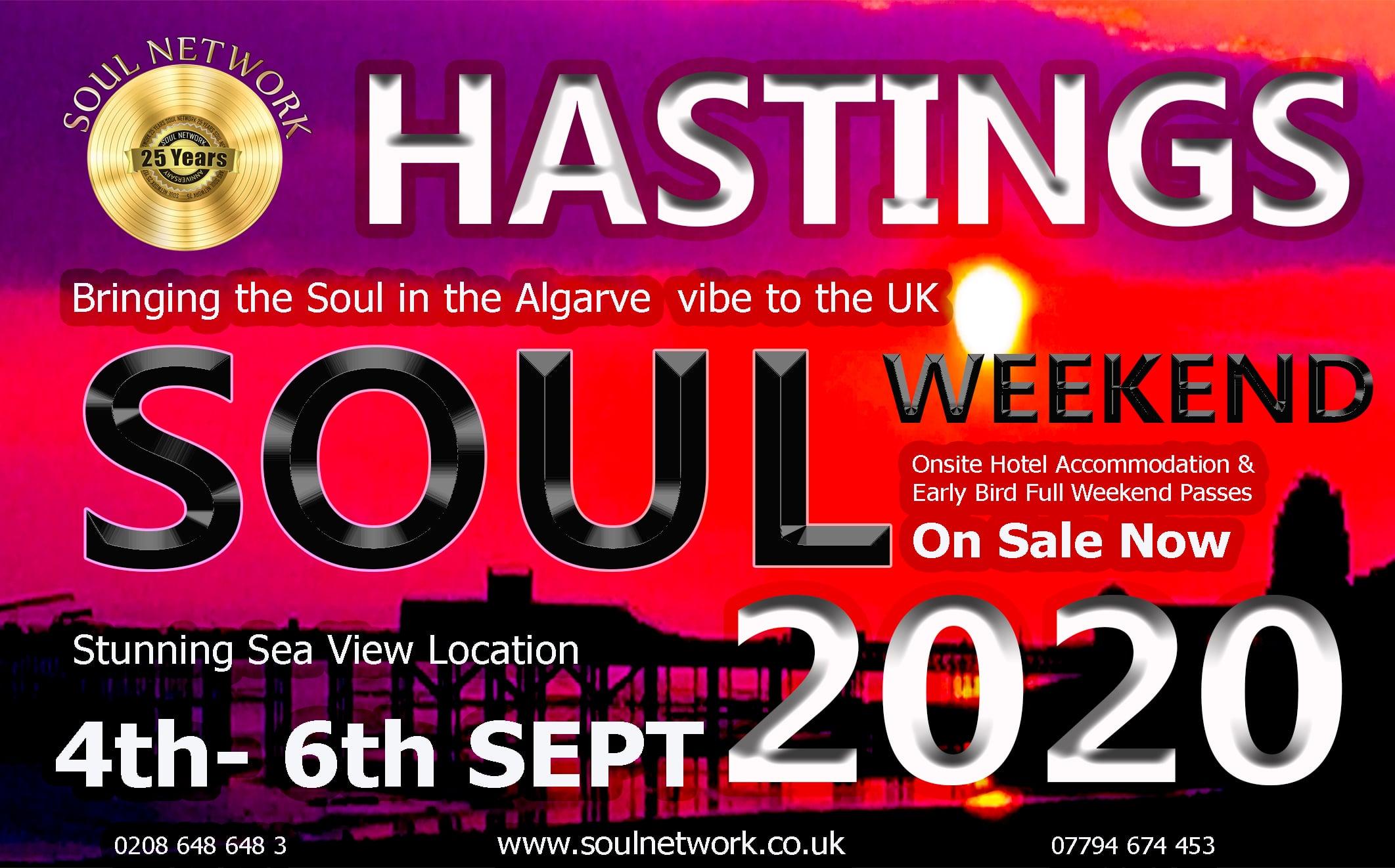 HASTINGS flyer 1 Soul Network Soul Weekender 2020
