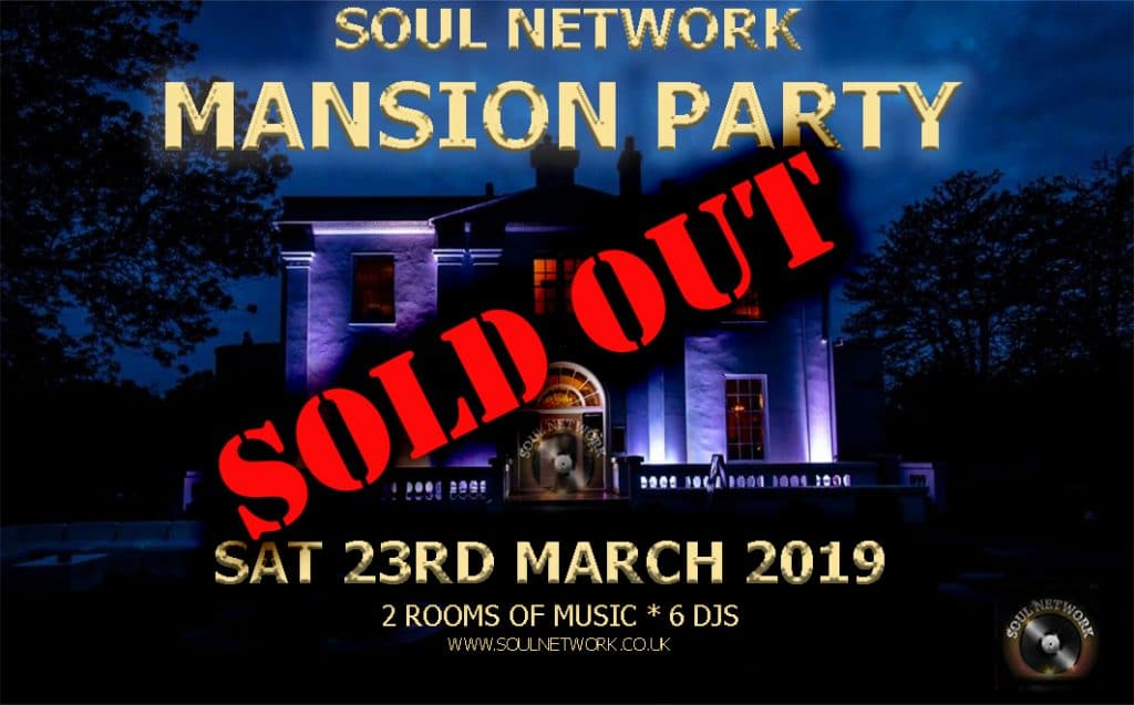 Mansion Party Belair Sat 23rd March SOLD OUT