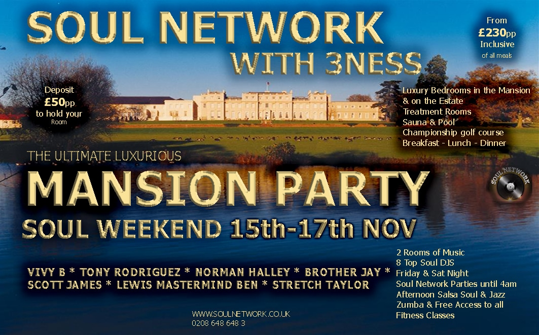 a61f6c7e9af40 Soul Network | Essential Events for Over 30's who Love Soul Music