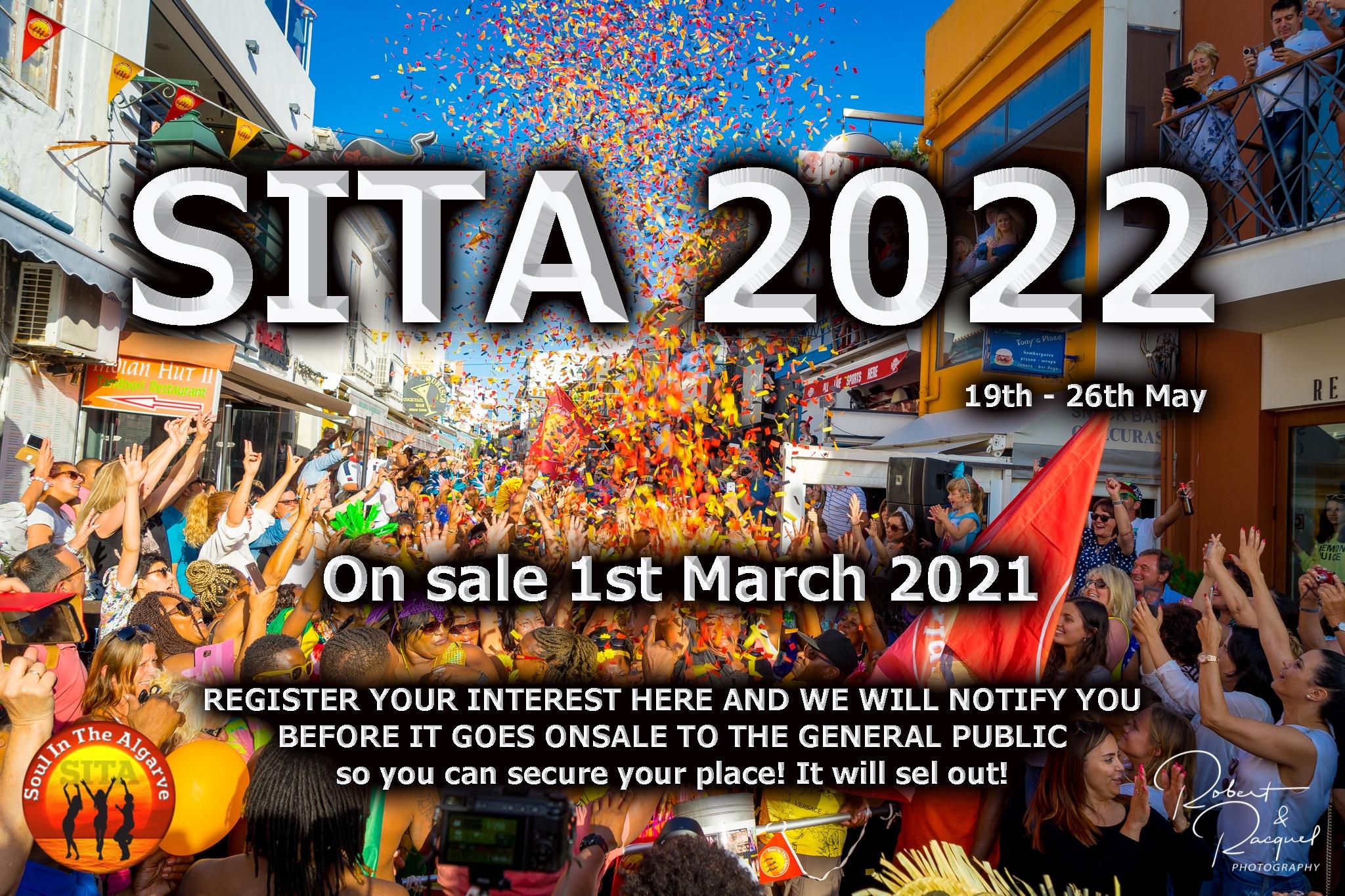 SITA 2022 ON SALE March 1st 2021