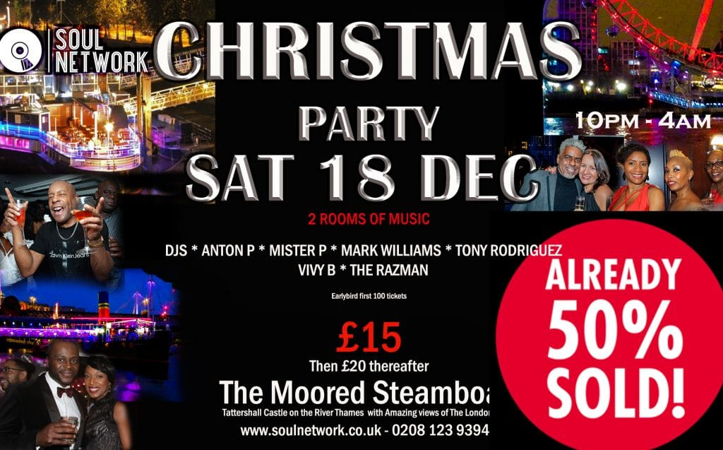 Christmas Party Flyer Tattershall WITH DJS sold 50%